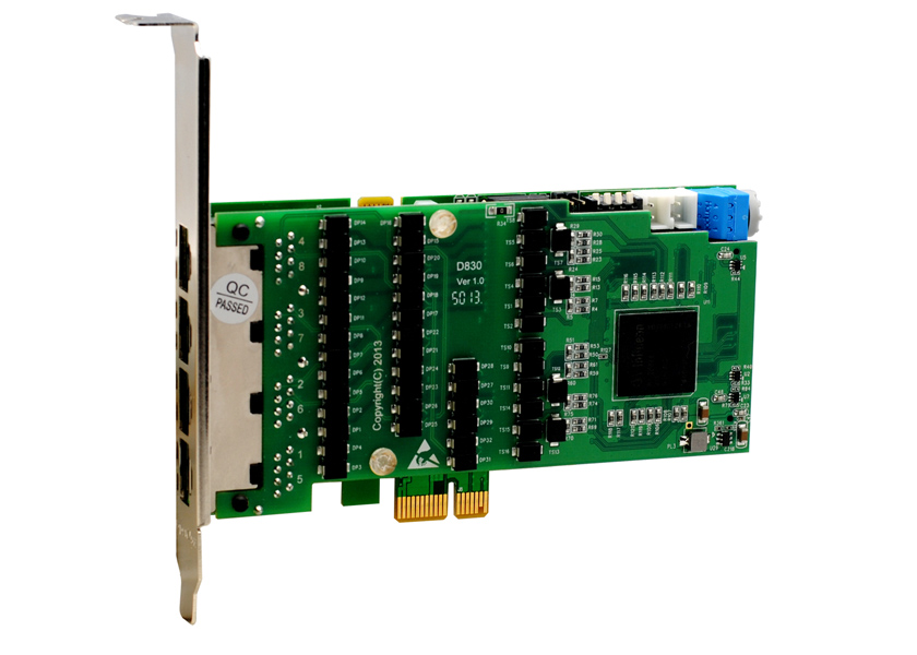 Carte T1/E1/J1 PRI 4 Port PCI-E (Version avancée, Bas Profil) D430