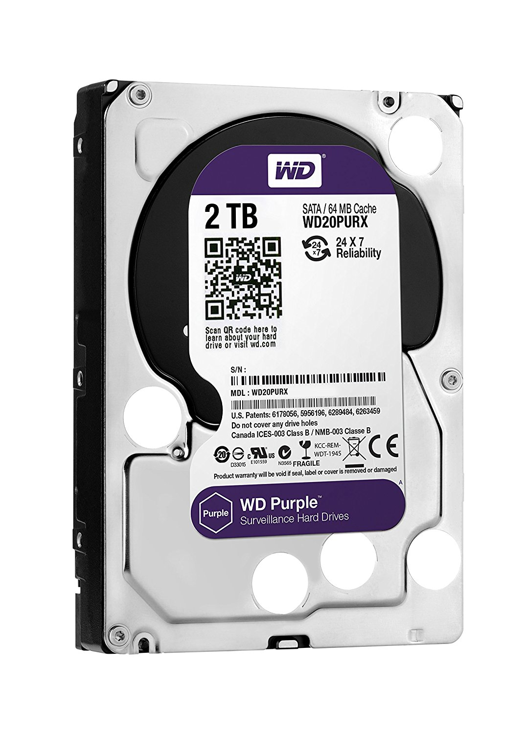 "Disque dur interne 2 To 3.5"" SATA 6Gb/s 5400 tours/min 64 Mo"