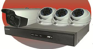 PACK DVR 04CH + 04 CAMERAS HD 2MP