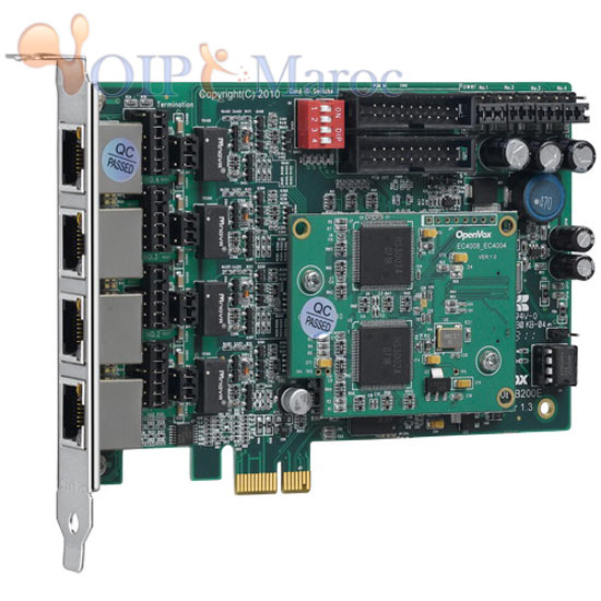 Carte ISDN BRI PCI-E 4 Port + EC4008 module BE400P