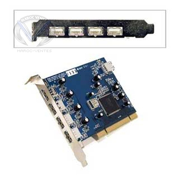 Carte PCI 4 ports USB 2.0 (PC)