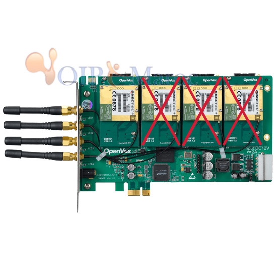 Carte GSM 4 Port PCI-E + 1 GSM module G400E1