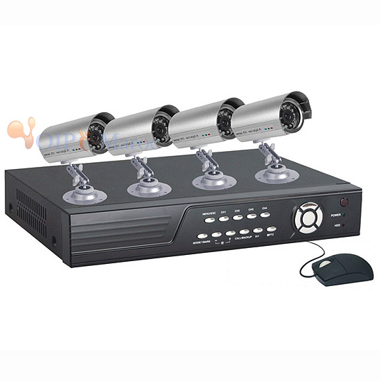 KIT DVR DI-RD624BV +4 CAM. DI-CD332C +4 ALIM DI-AS201B