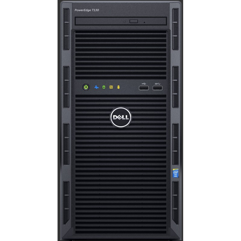 Serveur tour PowerEdge T130 E3-1220V5 3.0GHz 1 TB 4 GB RAM PET130-E3-1220-V5A