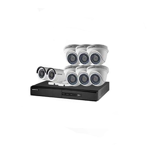 DVR 8 CH + 6 CAMERA MINI DOME + 2 CAMERA BULLET Turbo HD