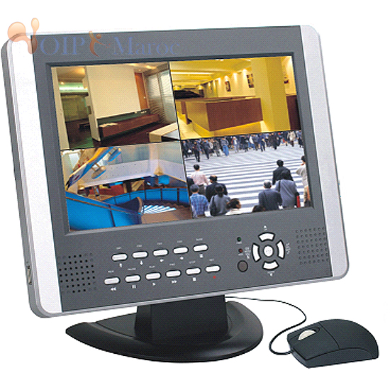 "H.264 4CH DVR with 10"" Color LCD"