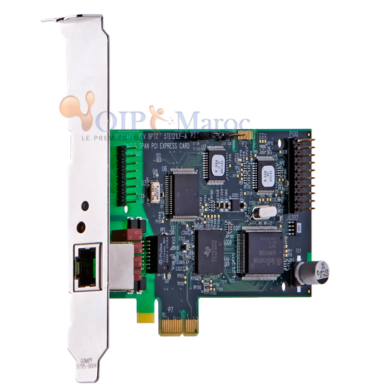 Carte single span T1/E1/J1 PRI PCI-Express TE121PF