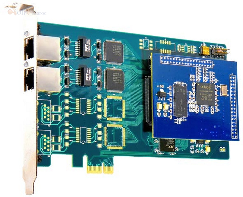 Carte E1 a deux avec Carte Echo Canceling port Pour Asterisk ISDN PRI Digital Interface Card ZD2PE-E